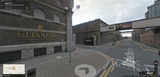 Guiness Storehouse in Google Street View