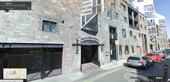 Jameson distillery in Google street view