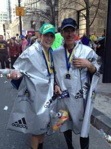 Mike and Sydney after the Boston Marathon 2014