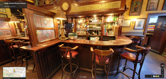 O'Neills Inside panoramic in Google Street View