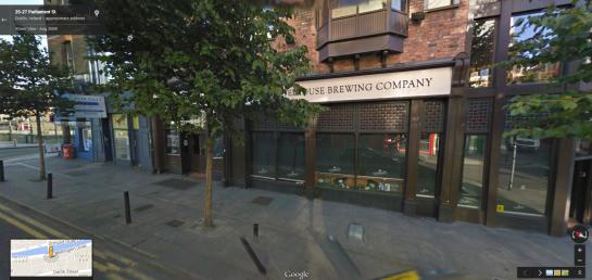 The Porterhouse in Google Street view