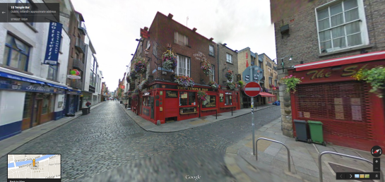 The Temple Bar in Google Street View