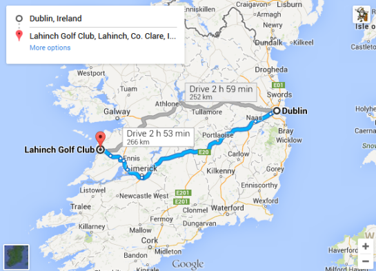 Trip - Dublin to Lahinch Golf Club