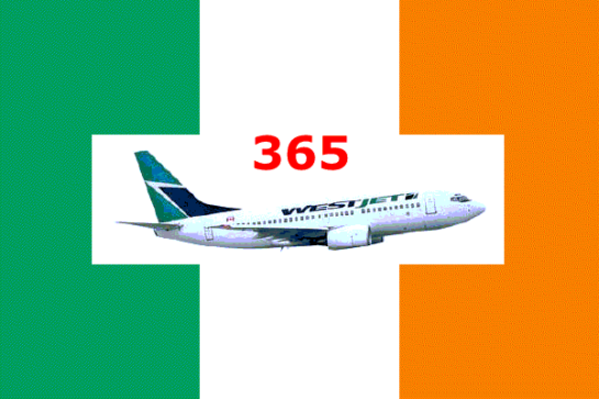 Ireland Flag + WestJet