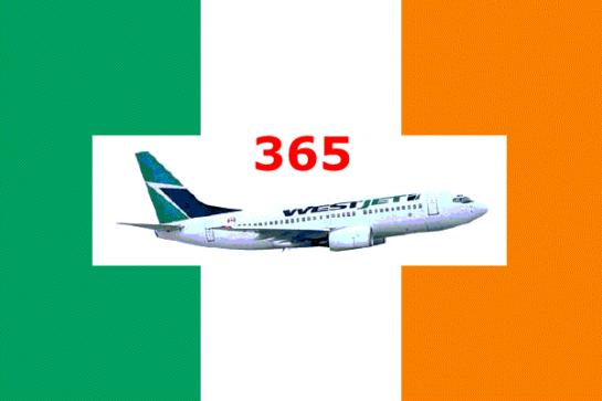 Ireland Flag + WestJet
