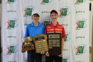 Graham and Calvin with trophies