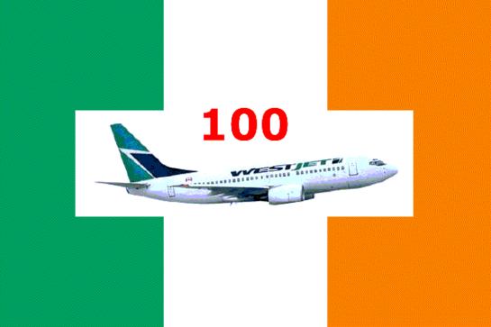 Ireland Flag + WestJet - 100